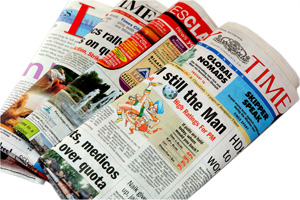 image of some newspapers