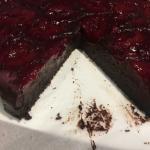 Flourless Chocolate and Black Doris Plum cake