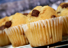 picture of delicous bakery muffins
