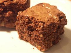 home made brownies